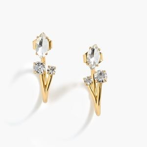 JCrew Crystal Cluster Jacket Earrings